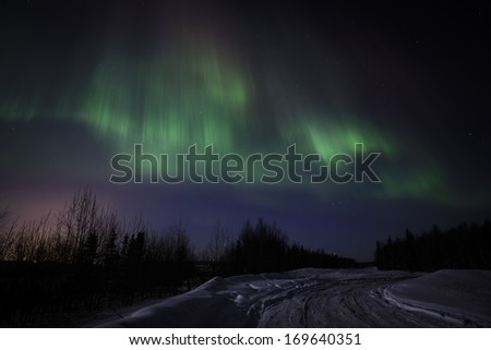Northern Lights display over Alaska, March 8, 2012