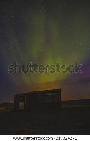 Northern Lights in Iceland. Aurora - stock photo