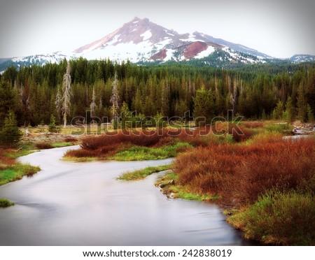 Northern New Mexico Fall near Taos - stock photo