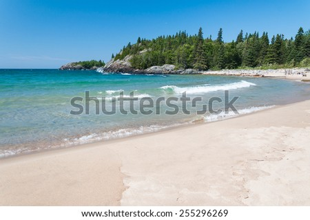 Northern shore of Great Lake Superior.  Pukaskwa National Park of Canada. Ontario, Canada - stock photo