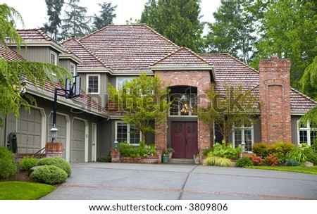 Northwest luxury style house - stock photo
