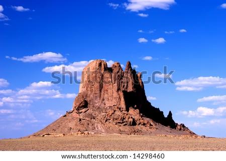 Northwest New Mexico near Shiprock. - stock photo