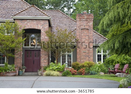 Northwest style luxury house - stock photo