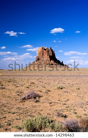 Northwestern New Mexico near Shiprock. - stock photo