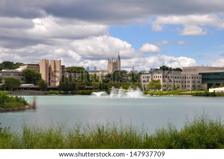 Northwestern University campus - stock photo