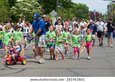 "Norwalk, CT, USA - May 24, 2015: The individuals are some of the many participants at the ""Memorial Day Parade"" held in the city of Norwalk, Connecticut, on May 24, 2015."