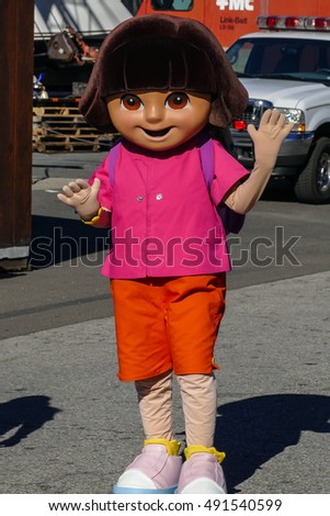 NORWALK- SEPTEMBER 25: Dora TV character show at Norwalk Boat Show 2016 in Norwalk, USA on September 25, 2016