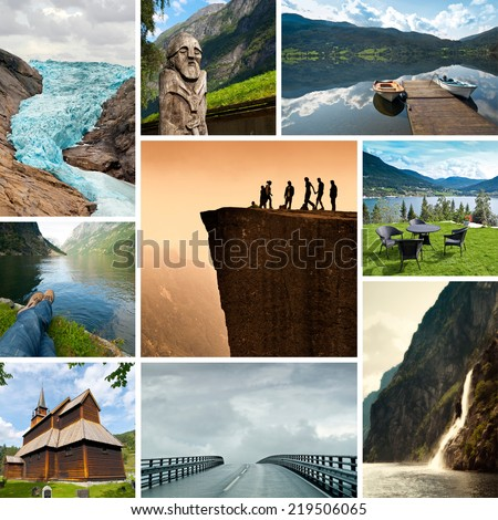 Norway Collage - stock photo