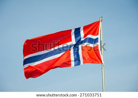 Norway Flag - Norwegian Flag - stock photo