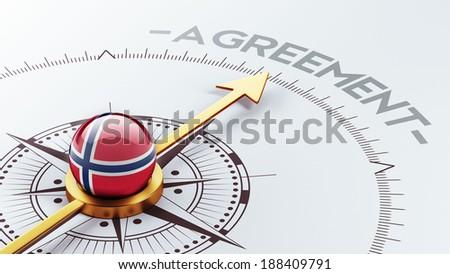 Norway High Resolution Agreement Concept - stock photo
