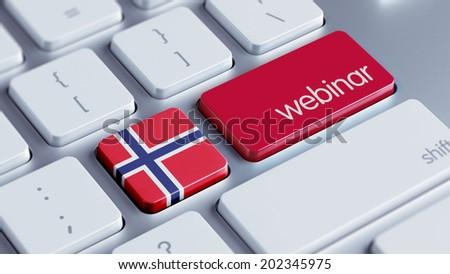 Norway High Resolution Webinar Concept - stock photo