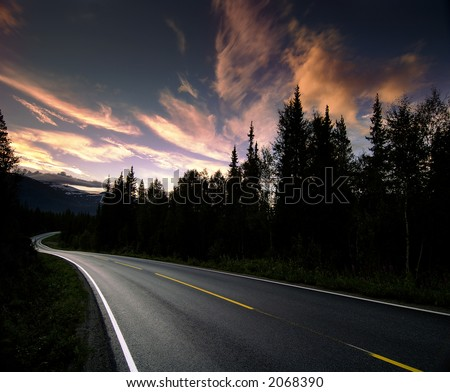 Norway Highway - stock photo
