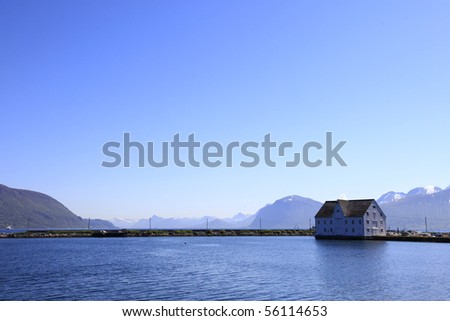 norway landscape - stock photo