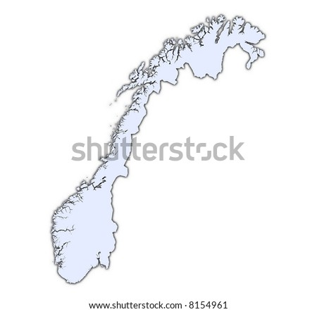 Norway Map Black White Mercator Projection Stock Vector - Norway map cartoon
