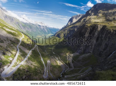 Norway. Scandinavia. Travel. Trollstigen road.
