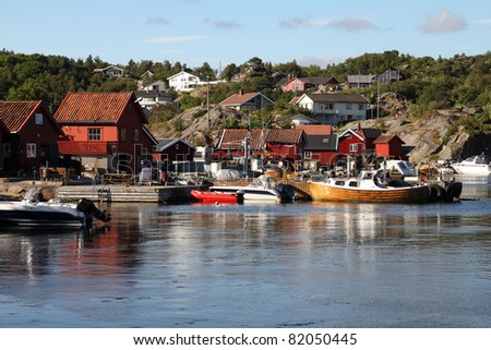 Norway - Skjernoy island in the region of Vest-Agder. Small fishing town - Dyrstad (also known as Dyrestad).