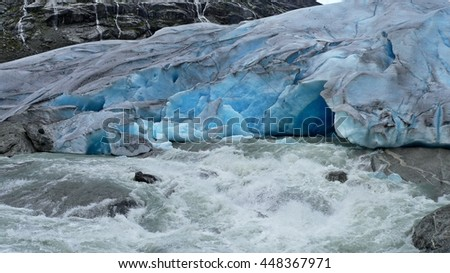 Norway-view on the glacier Nigardsbreen