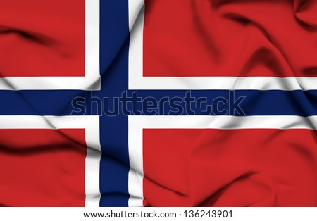 Norway waving flag