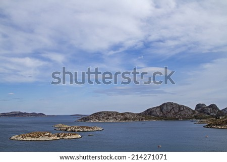 Norwegian Atlantic coast between Afjord and Namsos - stock photo