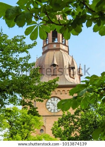 Norwegian churches. Oslo Cathedral or The Domkirken church, main church for Church of Norway Diocese of Oslo, Norway
