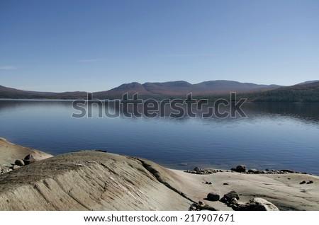 Norwegian lake - stock photo