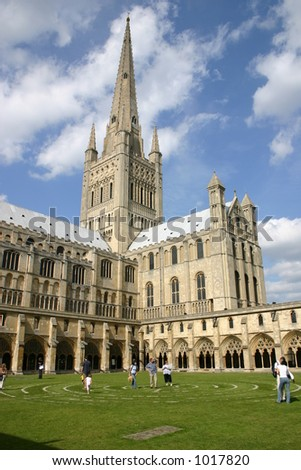 Norwich Cathedral - stock photo