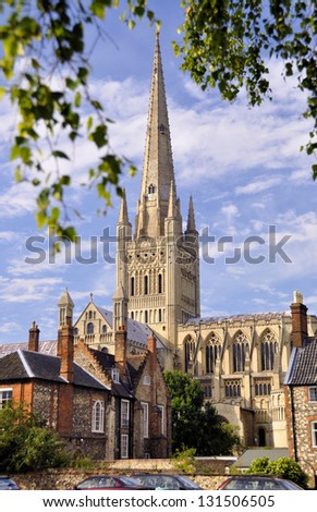 Norwich Cathedral, England - stock photo