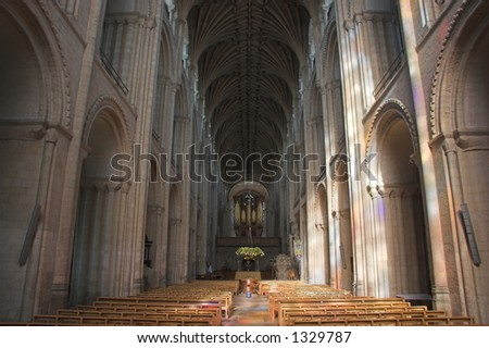 Norwich Cathedral interior - stock photo