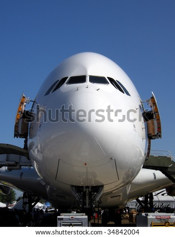 Nose of large jet