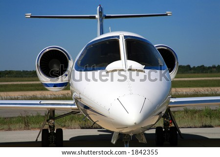 Nose of Learjet - stock photo