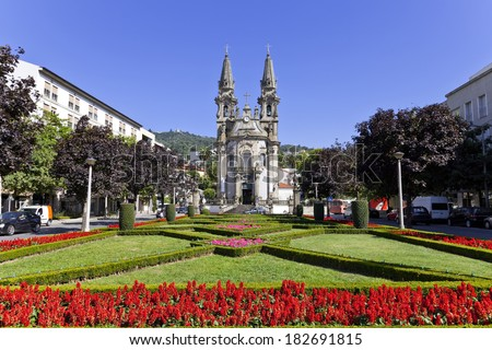 Nossa Senhora da Consolacao e dos Santos Passos Church (aka Sao Gualter Church) in Guimaraes, Portugal. Unesco World Heritage Site. - stock photo