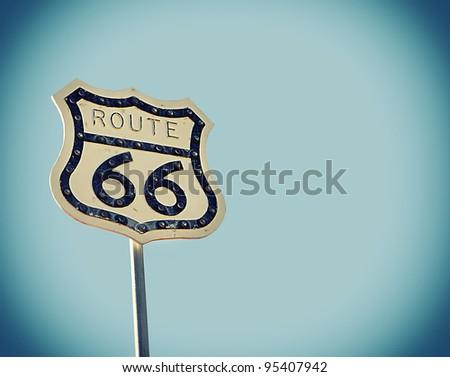 Nostalgic Route 66 - stock photo