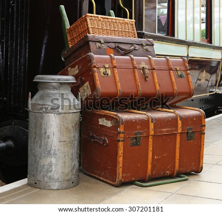 Baggage Platform Railway Trolley Stock Images, Royalty-Free Images ...