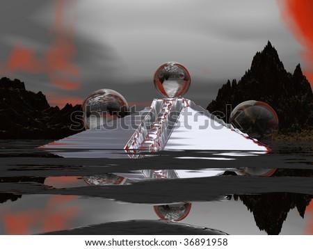 Nostradamus Prediction Armageddon 2012 - stock photo