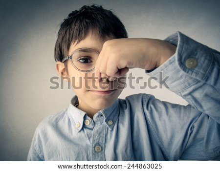 Not a good smell  - stock photo