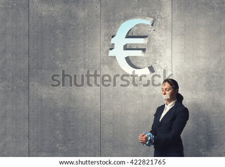 Not a word she can say - stock photo