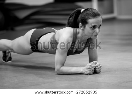 Not allowing her body to give up - stock photo
