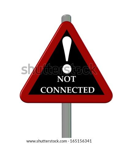 not connected sign - stock photo