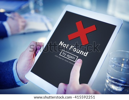 Not Found Error Data Internet Online Technology Concept - stock photo