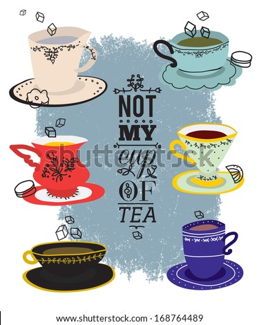 Not my cup of tea - stock photo