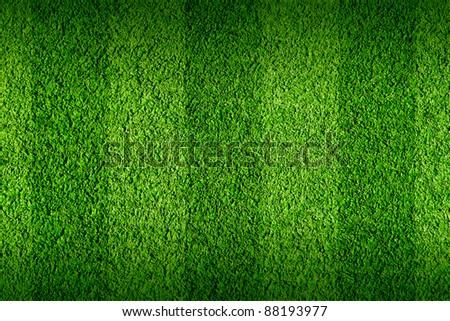 Not natural football green grass - stock photo