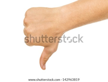 not ok abstract (hand) - stock photo