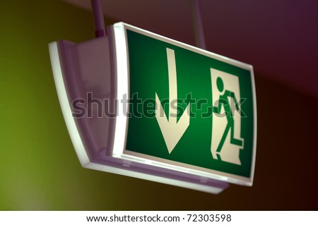 notausgang - stock photo