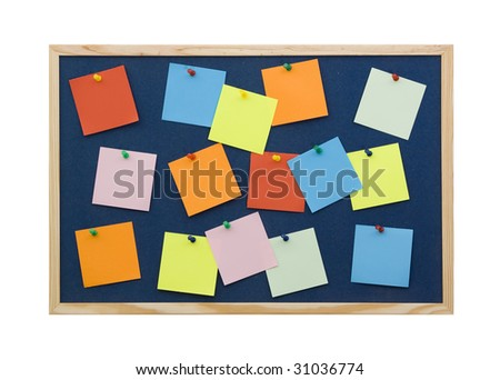 note board - stock photo