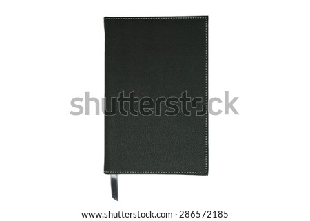 note book, black, isolated, white background