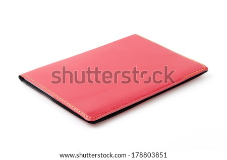 Note book isolated white background