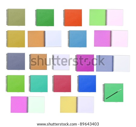 Note book multicolor on white background