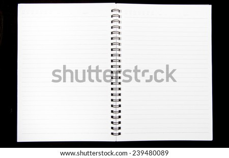 Note Book on black background - stock photo