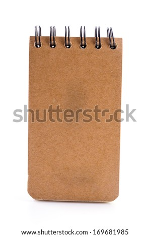 Note book on isolated white background - stock photo