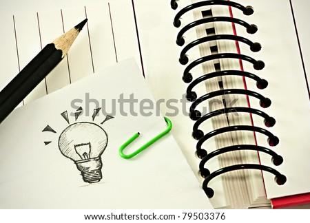 note down the idea - stock photo